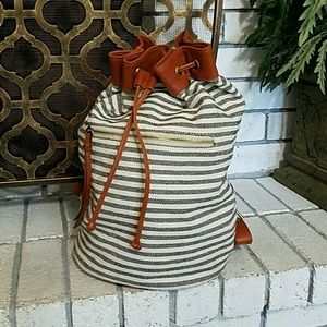 Sole Society Canvas Stripe Backpack